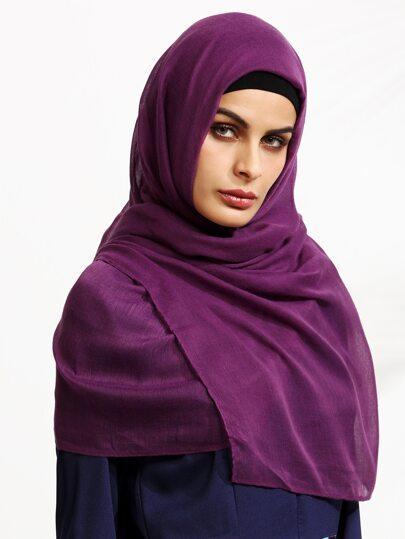Purple Voile Hijab Scarf