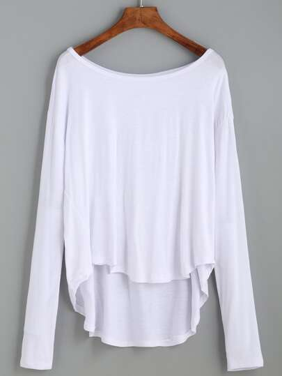 Dropped Shoulder Dip Hem Tee