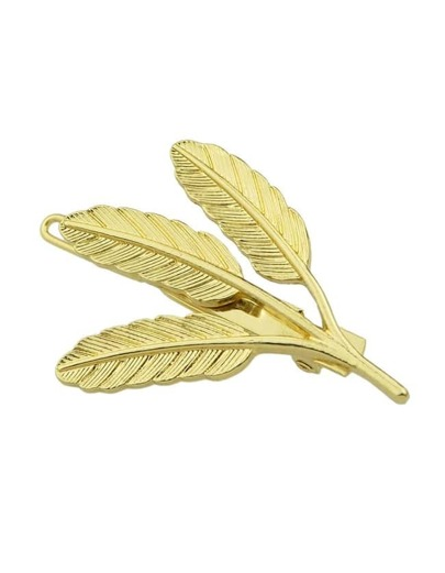 Gold Plated Leaf Shape Hair Clips