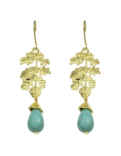 Leaf Shape Turquoise Dangle Earrings