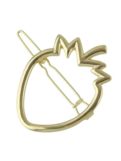 Gold Pineapple Hair Clip Pin For Girls