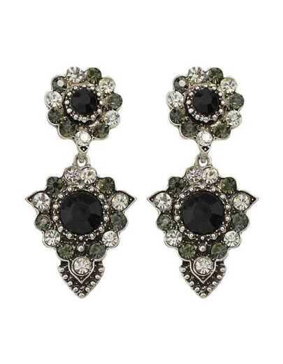 Elegant Rhinestone Long Drop Earrings
