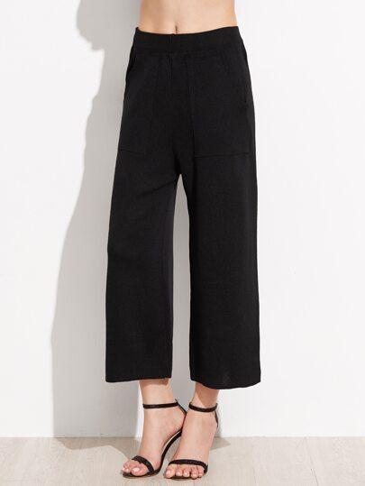 Pantalons larges élastiques - noir