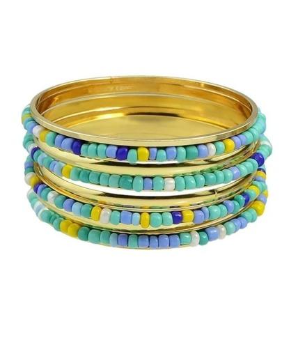Blue Beads Bracelets and Bangles