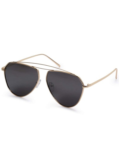 Aviator Sunglasses With Double Brow Bar