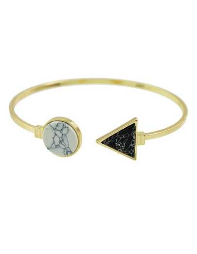 White Turquoise Cuff Open Bracelet