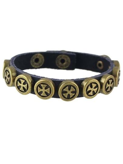 PU Leather Adjustable Wrap Bracelet