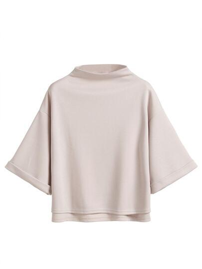 T-shirt asymétrique col montant