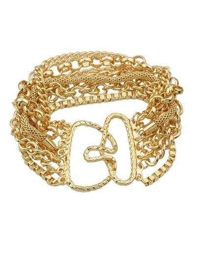 Gold Plated Wide Chain Bracelet
