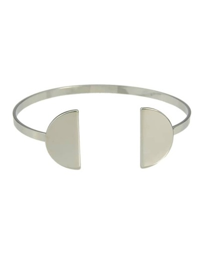 Silver Plated Open Cuff Bracelet