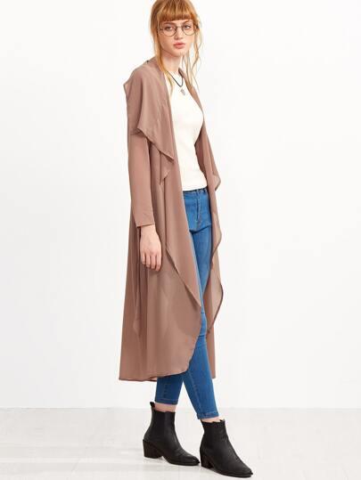 Dark Pink Long Outerwear