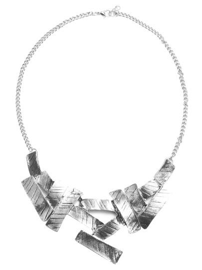 Antique Silver Minimalist Chain Necklace
