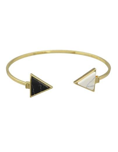 Blackwhite Turquoise Cuff Bracelet