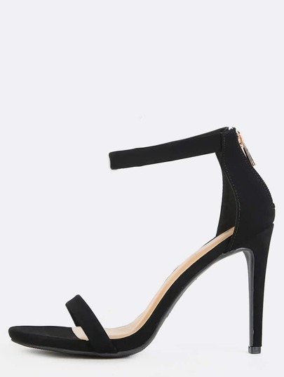 Classic Single Sole Heels BLACK