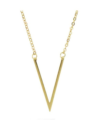 Gold Simple Thin Chain Necklace For Women