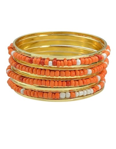 Orange Beads Bracelets and Bangles