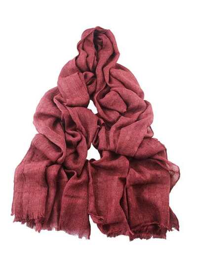 Red Good Quality Soft Solid Color Cotton Long Scarf