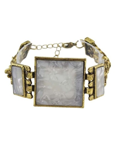 Gray Stone Chunky Bracelet