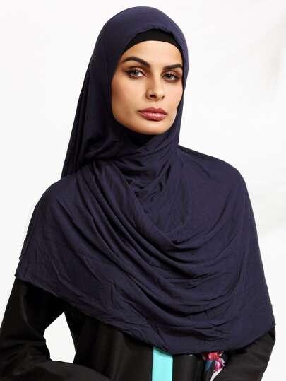Тёмно-синий шарф в арабском стиле