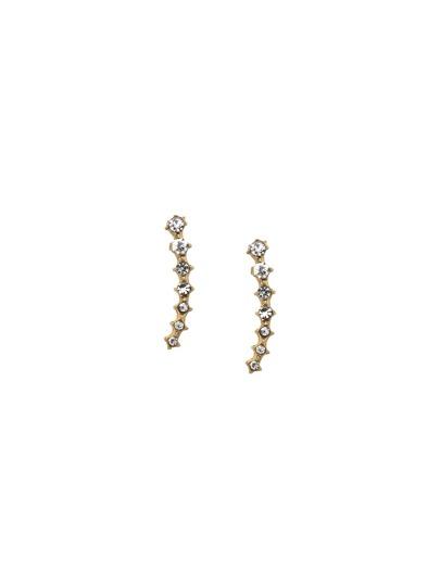 Gold Rhinestone Encrusted Ear Pins