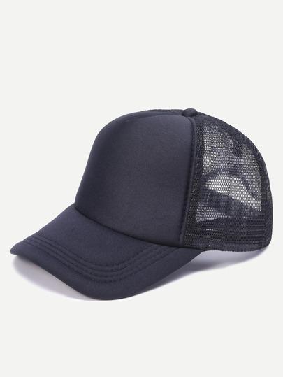 Black Mesh Snapback Baseball Cap
