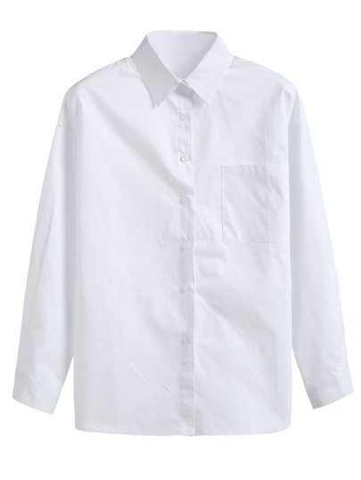 White Pocket Basic Shirt
