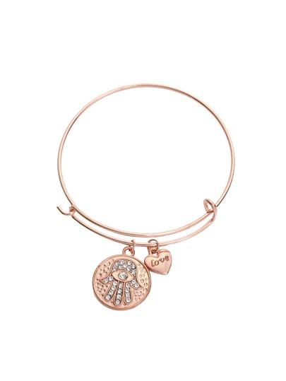 Rose Golden Cristal Coin Bracelet