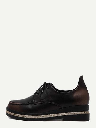 Espadrille Schuhe Kunstleder mit Schnürband - burgund rot