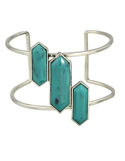 Green Big Cuff Turquoise Bracelet