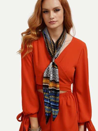 Модный шарф с принтом