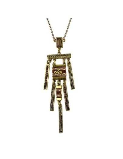 Gold Plated Spike Long Necklace