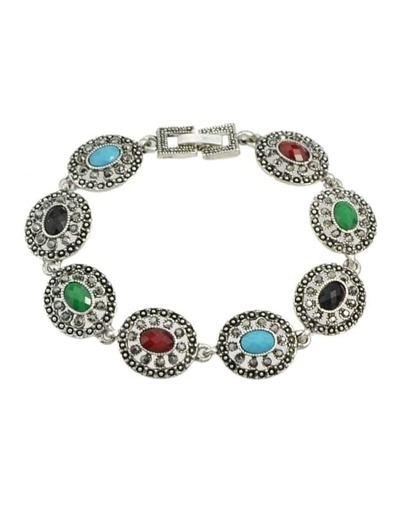 Silver Plated Rhinestone Bracelet