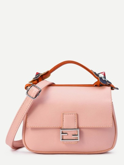Color Block Double Sided Crossbody Bag