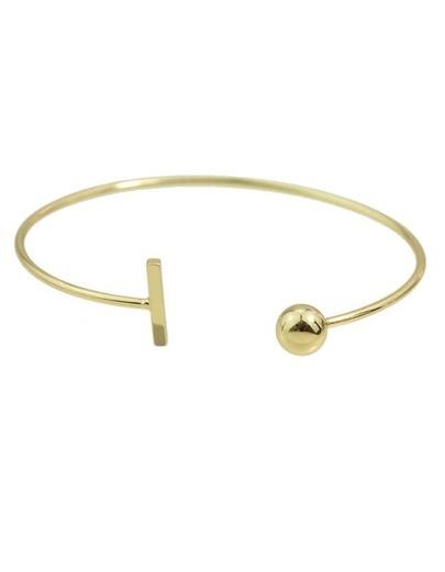Gold Simple Thin Cuff Bracelets