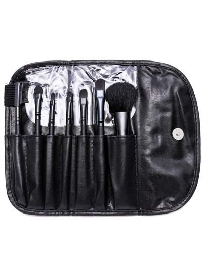 Conjunto de brochas de maquillaje 7PCS - negro