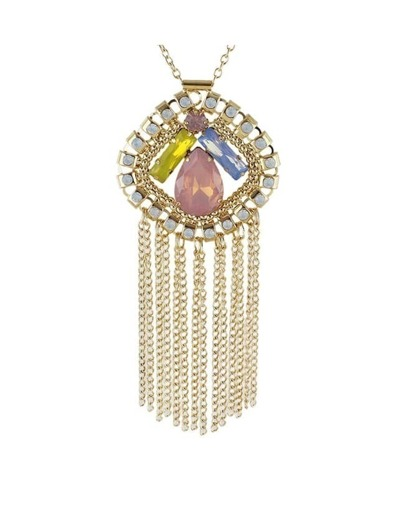 Coloful Rhinestone Chain Necklace