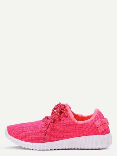 Chaussures décontractés avec lacets - rose