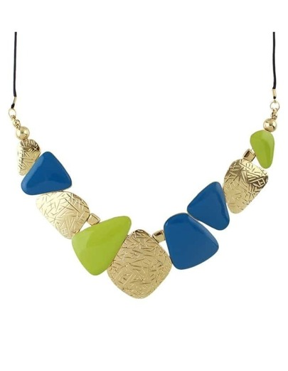 Olive Enamel Statement Necklace