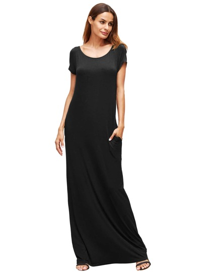 Pocket Full Length Loose Dress