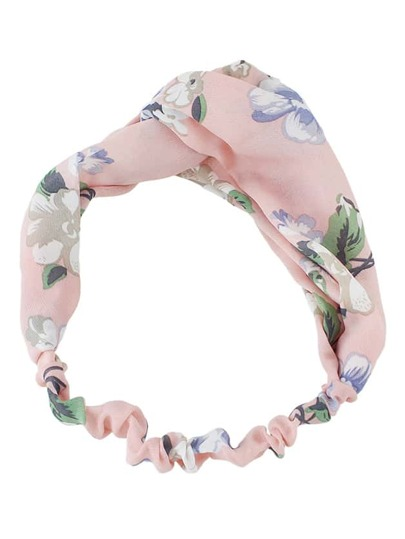 Pink Beach Style Flower Elastic Headband For Women