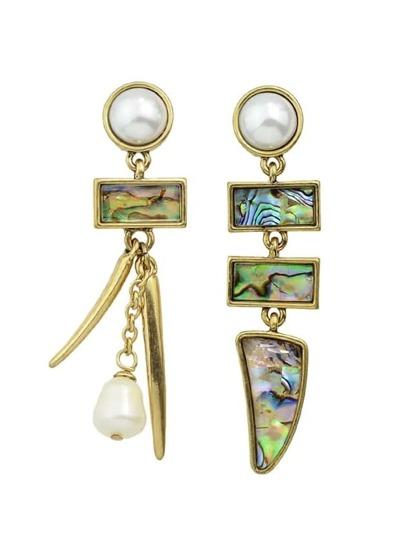 Fashion Colorful Rhinestone Imitation Pearl Drop Earrings