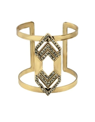 Gold Plated Chunky Cuff Bracelet