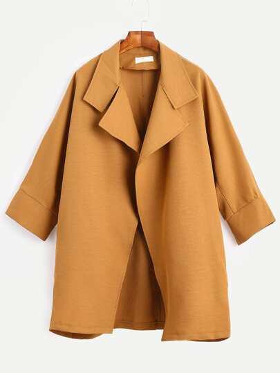 معطف فضفاض بني