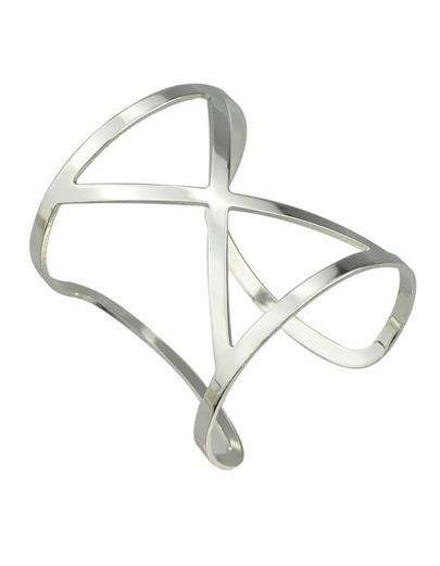 Silver Big Cuff Open Bracelet