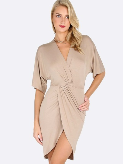 Quarter Sleeve Wrap Dress COCO