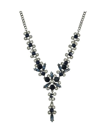 Black Elegant Flower Wedding Necklace For Women