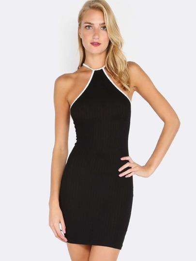 Halter Ribbed Dress