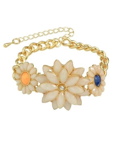 Gemstone Flower Bracelet