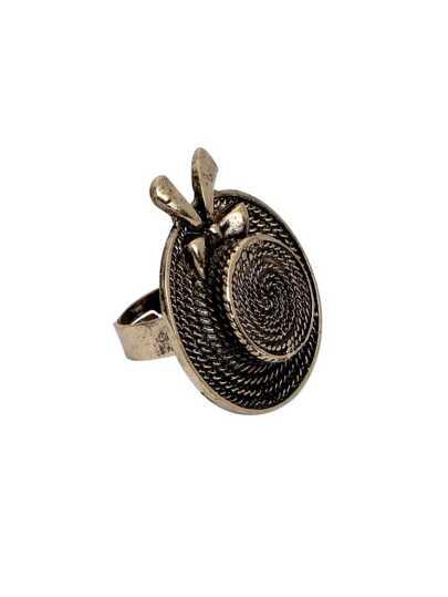 Vintage Bronze Hat Shaped Finger Ring