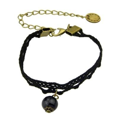 Black Lace Link Bracelet
